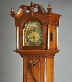 tall clocks, kelly kinzle antiques, antique furniture