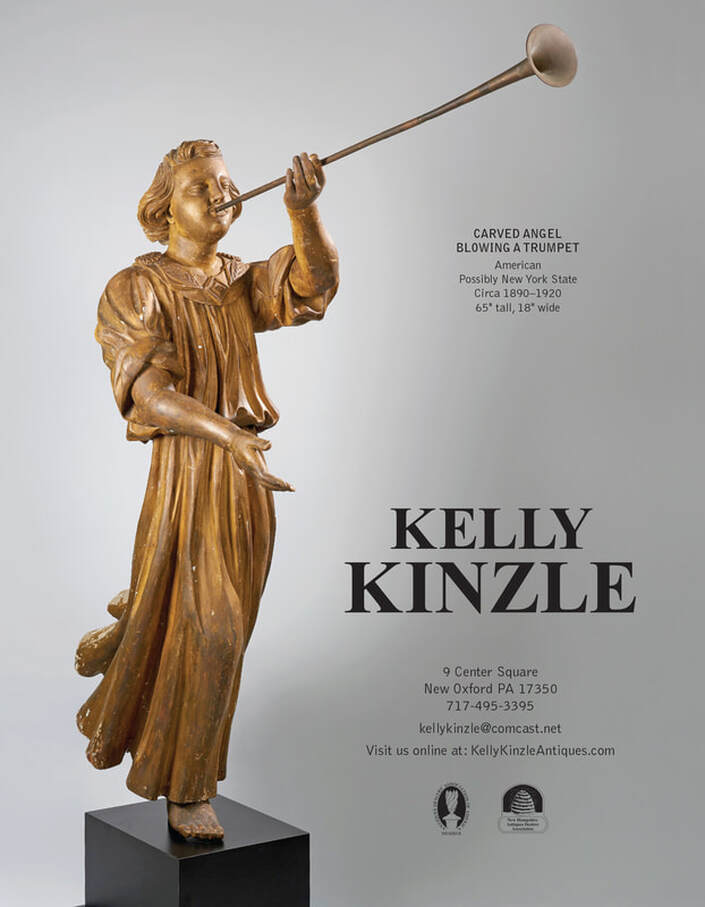Kelly Kinzle Antiques featured in magazine, antiques near me, antique clocks,